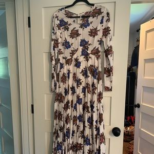Floral long sleeve free people maxi